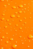 Water drops on orange metal ba Royalty Free Stock Photos