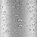 Water drops over gray glass. Royalty Free Stock Photography