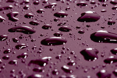 Water drops on pane, close up Royalty Free Stock Photos