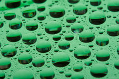 Water drops on plastic surface Royalty Free Stock Photo