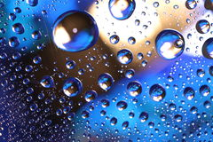 Water drops on plastic surface Stock Images