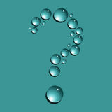 Water drops question mark Royalty Free Stock Photo