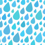 Water drops, rain seamless pattern background.  stock illustration