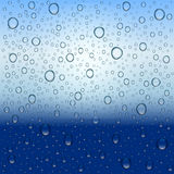 Water drops and rain. Royalty Free Stock Photography