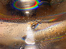 Water drops - rainbow. Water drops series stock images