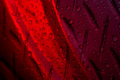 Water drops red Stock Image