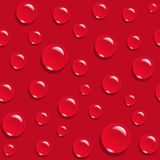 Water drops on red background seamless pattern Royalty Free Stock Photography
