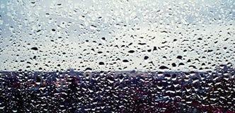 Water drops reflections Royalty Free Stock Photos