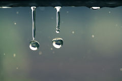 Water drops on retro color style Stock Photo