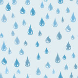 Water drops seamless pattern. Raindrop background. Rain texture stock illustration