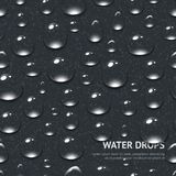 Water Drops Seamless Pattern Stock Images