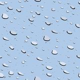 Water drops seamless texture Stock Image