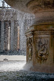 Water drops in a splash running from fountain in Vatican Stock Image