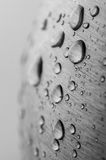 Water drops on steel surface Stock Photography