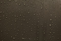 Water drops on surface Royalty Free Stock Photos