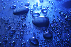 Water drops on a surface Stock Image