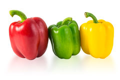 Water drops on Sweet pepper Stock Photos