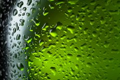 Water drops texture on the bottle of beer Royalty Free Stock Photos