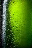 Water drops texture on the bottle of beer Stock Photography