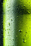 Water drops texture on the bottle of beer. Royalty Free Stock Photos