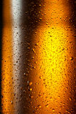 Water drops texture on the bottle of beer. Abstract background Stock Photo