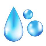 Water drops. Vector  water drops illustration Royalty Free Stock Image
