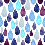 Water drops. Vector watercolor pattern with water colored  drops Royalty Free Stock Photos