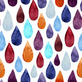 Water drops. Vector watercolor pattern with water colored  drops Stock Photo