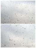Water Drops On White Royalty Free Stock Photos