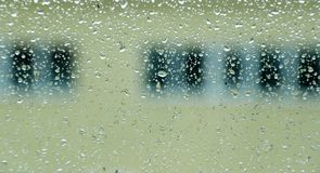 Water drops on window Royalty Free Stock Image