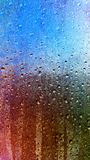 Water drops on the window. Background Stock Image