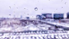Water drops on window Stock Photo