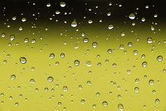 Water drops on window. Closeup image of water drops on a window after rain Stock Photography