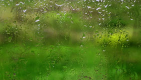 Water drops on window glass Royalty Free Stock Image