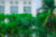 Water drops on window. Glass Stock Image