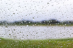 Water drops on window glass Royalty Free Stock Photos