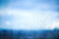 Water drops on the window Royalty Free Stock Photography