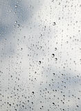 Water drops on a Window. They are outlined in black Stock Images