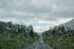 Water drops window rain Royalty Free Stock Image