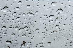 Water drops window rain Stock Photo