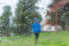 Water drops window rain Royalty Free Stock Photos