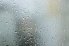 Water drops on the window. With summer rain shoot whit macro lens Royalty Free Stock Image