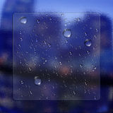 Water Drops With Glass Effect Stock Photo