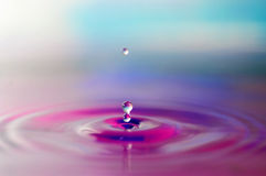 Water Drops With Ripple Royalty Free Stock Photography