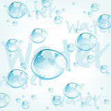 Water drops, vector  Stock Image
