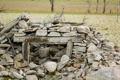 Water and drought damaged building Stock Photography