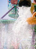 Water dumped. Huge amount of water dumped in the family fun park Royalty Free Stock Image