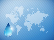 Water on earth concept illustration Royalty Free Stock Image