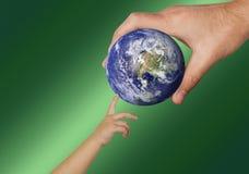 Water, Earth, Hand, Globe Stock Photography