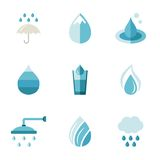Water, ecology, freshness. Characters in a flat Royalty Free Stock Photography